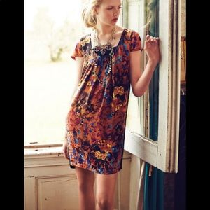 Anthropologie Maeve Pintura Silk Shift(Price Firm)